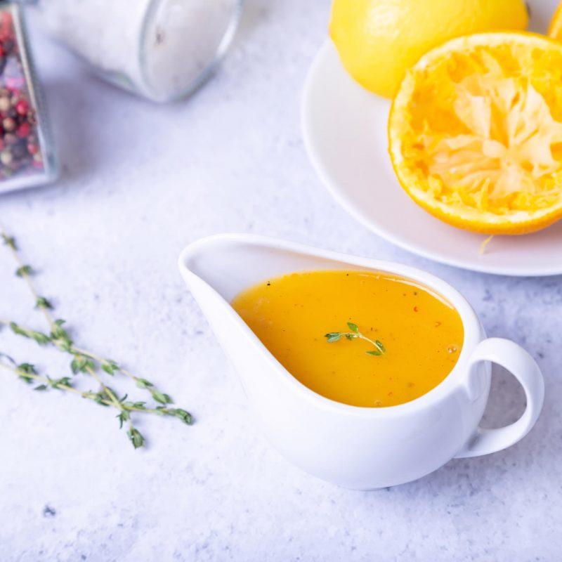 Цитрусовый соус без глютена